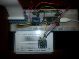 Conexión de sensor para probar el ADC de