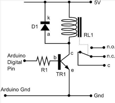 Controlando Un Relay Con Arduino on latching contactor wiring diagram