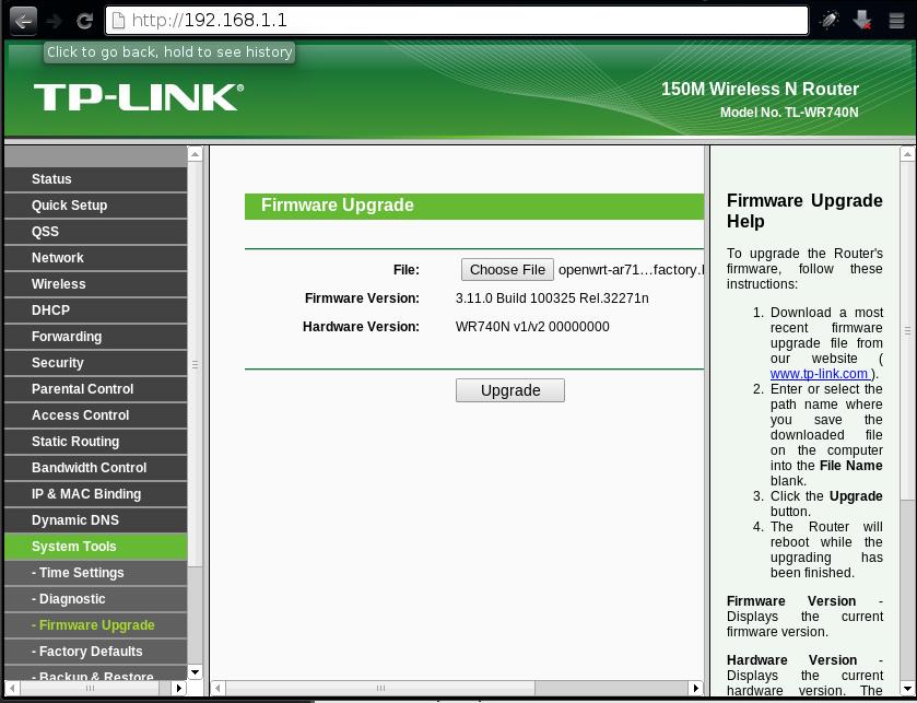 firmware update tplink